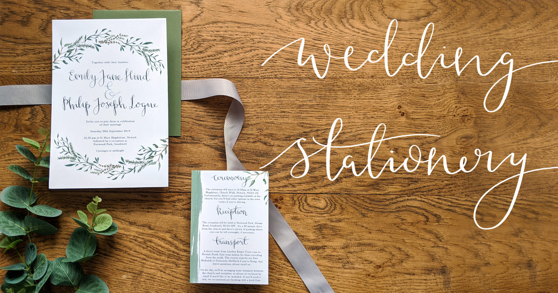 wedding stationery small banner